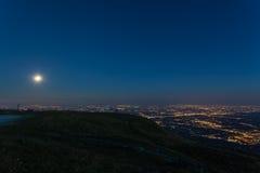Подъем луны на венецианскую равнину Стоковые Изображения