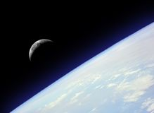 подъем луны Стоковое фото RF