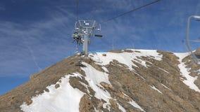 Подъем лыжи восходит сток-видео