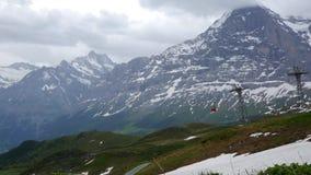 Подъем лыжи в Wengen, Швейцарию акции видеоматериалы