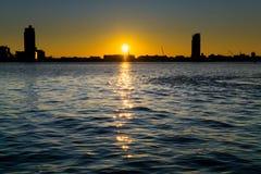 Подъем Нью-Йорка Солнця стоковое изображение