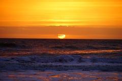 Подъем солнца пляжа Джексонвилла Стоковое Фото