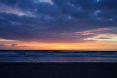 Подъем солнца пляжа Джексонвилла Стоковое фото RF