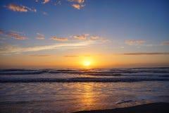 Подъем солнца пляжа Джексонвилла Стоковые Фотографии RF