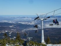 Подъем стула горы Szrenica Стоковые Изображения RF