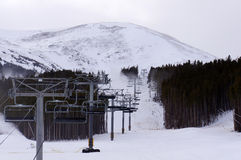 Подъем стула лыжного курорта Стоковые Изображения