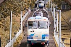 Подъем трамвая канатной железной дороги Стоковая Фотография