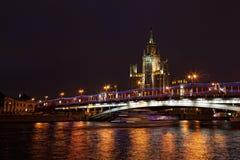 подъем kotelnicheskaya обваловки высокий I здания Стоковая Фотография