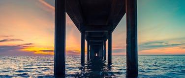 Под взглядом перспективы пристани Брайтона стоковое фото rf