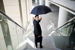 Под зонтиком Стоковое Изображение