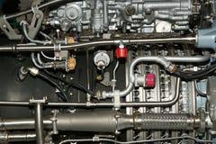 под осмотренным большим двигателя двигателя детали Стоковые Изображения RF