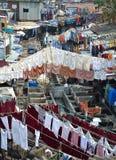 Под открытым небом прачечный, Мумбай Стоковое Фото