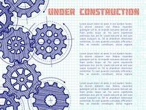 Под предпосылкой вектора конструкции при нарисованная рука зацепляет на странице тетради иллюстрация вектора