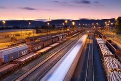 поезда железных дорог перевозки Стоковая Фотография RF