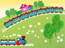 поезда игрушки Стоковое Фото