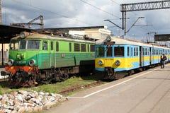 поезда Польши пассажира Стоковое Изображение