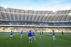 поезда стадиона игроков nsc kyiv olimpiyskiy Стоковое Изображение