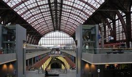 поезда центральной станции потолка antwerp Стоковое Фото
