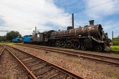 Поезда Scrapped паровозы пара Стоковые Изображения RF