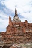Поездка туда и обратно Таиланд июль 2017 - Ayutthaya - Wat Phra Sri Sanpet Стоковое Фото