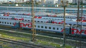 поезд бака России навальных железных дорог сырой нефти компании русский Стоковые Изображения RF