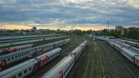 поезд бака России навальных железных дорог сырой нефти компании русский Стоковые Изображения