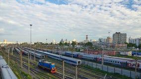 поезд бака России навальных железных дорог сырой нефти компании русский Стоковая Фотография RF