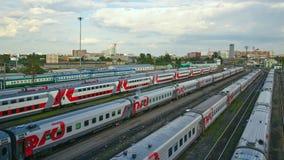 поезд бака России навальных железных дорог сырой нефти компании русский Стоковая Фотография