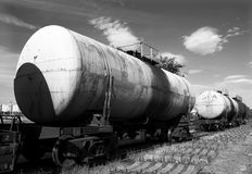 поезд бака Стоковая Фотография