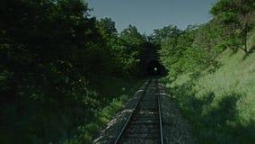 Поезд входя в тоннель сток-видео