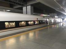 Поезд в Китае стоковая фотография