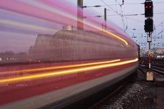 Поезд в нерезкости движения Стоковая Фотография RF