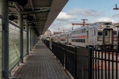 Поезд в станции Стоковые Фотографии RF