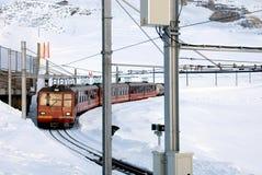поезд горы Стоковая Фотография