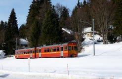 поезд горы jura красный малый Стоковые Изображения