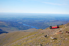 Поезд горы Snowdon Стоковое фото RF