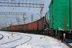 поезд груза Стоковая Фотография