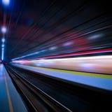 поезд движения нерезкости стоковая фотография rf