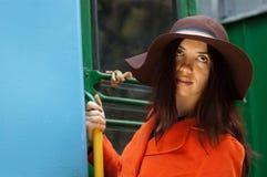 поезд девушки Стоковое Фото