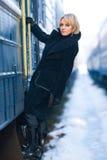 поезд девушки Стоковая Фотография