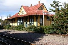 поезд депо исторический Стоковые Фотографии RF
