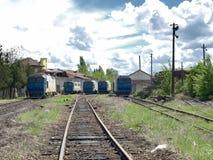 поезд депо Стоковая Фотография RF