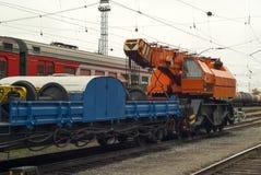 Поезд для работы спасения аварии стоковая фотография