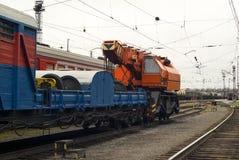 Поезд для работы спасения аварии стоковые фото