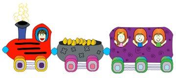 поезд езды s детей иллюстрация штока