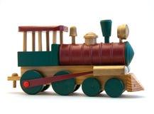 поезд игрушки двигателя деревянный Стоковые Фото