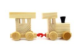 Поезд игрушки деревянный Стоковые Изображения RF