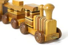 поезд игрушки деревянный Стоковая Фотография