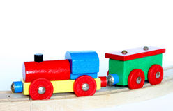 поезд игрушки деревянный Стоковые Фотографии RF