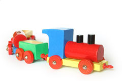 поезд игрушки деревянный Стоковое Изображение